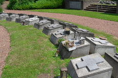Cemetery of the fathers of the Society of African Missions (SMA). Royalty Free Stock Photography