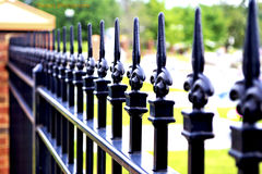 Cemetery Fence Stock Photo