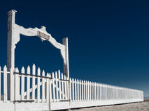 Cemetery fence and gates Stock Photography