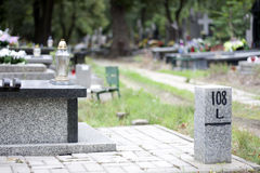 Cemetery and finding right way Stock Image