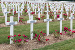 Cemetery First World War soldiers died at Battle of Verdun, Fran Stock Images