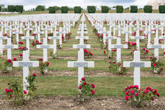 Cemetery First World War soldiers died at Battle of Verdun, Fran Royalty Free Stock Photo