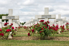 Cemetery First World War soldiers died at Battle of Verdun, Fran Stock Image