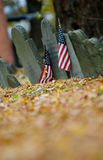 Cemetery Flags, Boston Royalty Free Stock Image