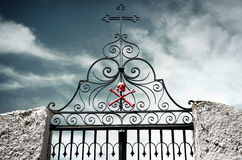 Cemetery Gate Royalty Free Stock Photography