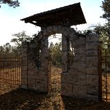 Cemetery Gate Stock Photography