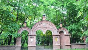 Cemetery gate stock video