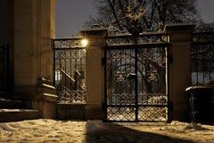 Cemetery gate Stock Photo