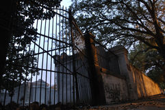 Cemetery gates Stock Photos