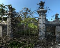 Cemetery Gates Stock Images