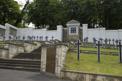 Cemetery of German soldiers Stock Photo