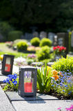 Cemetery in Germany Royalty Free Stock Image