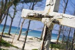 Cemetery Grand Bahama Island. A Cemetery stands quietly near the beach in Grand Bahama Island Stock Photos