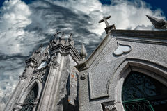 Cemetery granite chapels Royalty Free Stock Photos