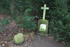 Cemetery. Graves at Hørsholm kirkegård cemetery in Denmark royalty free stock images