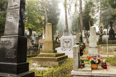 Cemetery graves Royalty Free Stock Photo
