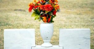 Cemetery gravesite. Stock Images