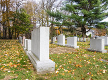 Cemetery with gravestones Stock Photo