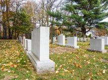 Cemetery with gravestones Stock Photo