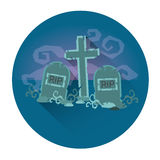 Cemetery Graveyard Halloween Holiday Icon Stock Photography