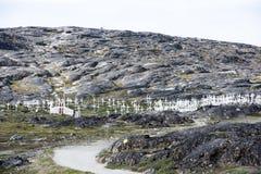 Cemetery Greenland Ilulissat Royalty Free Stock Photo
