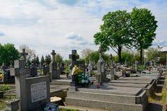 Cemetery, Haniska, Slovakia Stock Photo