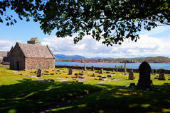 Cemetery in Hebrides royalty free stock photography