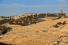 Cemetery and Homes on the Mt. of Olives Stock Photos