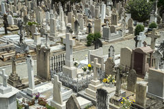 Cemetery in Hong Kong, China Royalty Free Stock Photos