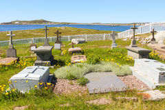 Cemetery  on Ile-aux-Marins Royalty Free Stock Images