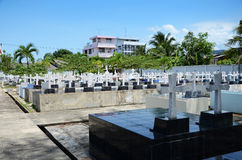 Cemetery Image with Crosses Royalty Free Stock Photo