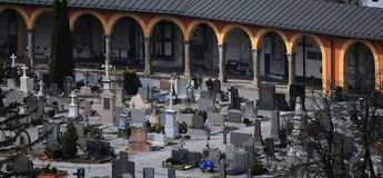 Cemetery in Innbruck, Austria Royalty Free Stock Photo