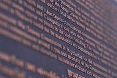 Cemetery inscription the history of world war two in kanchanabur Royalty Free Stock Photos