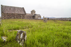 Cemetery Iona. Iona was the cradle of Scottish Christianity in Scotland Stock Photo