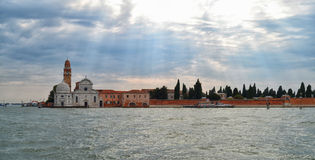 The Cemetery Island of San Michele in Venice Stock Photo