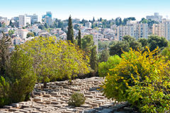 Cemetery in Jerusalem Stock Images
