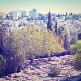 Cemetery in Jerusalem Stock Photo