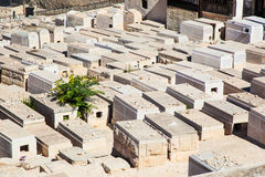 Cemetery on the Jerusalem city Stock Images