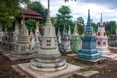 Cemetery in Kanchanaburi Stock Image