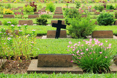 Cemetery in Kanchanaburi Thailand Stock Images