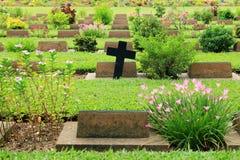 Cemetery in Kanchanaburi Thailand Stock Images