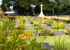 Cemetery in Kanchanaburi, Thailand Stock Photos