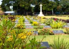 Cemetery in Kanchanaburi, Thailand Stock Photos