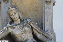 Cemetery La Recoleta. Statue, The image shows the outside of a private mausoleum Stock Images