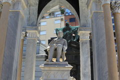 Cemetery La Recoleta. Statue, The image shows the outside of a private mausoleum Stock Photography