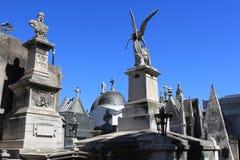 Cemetery La Recoleta. Ariel view, rooftops of cemetery. La Recoleta, Cemetery Royalty Free Stock Photo