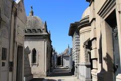 Cemetery La Recoleta. One of many Walkways though, La Recoleta, Cemetery Stock Images