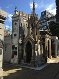 Cemetery La Recoleta. Tombs and Mausoleums at the La Recoleta Cemetery in Buenos Aires royalty free stock images
