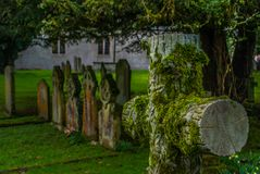 Cemetery in the Lake District area. UK royalty free stock photography