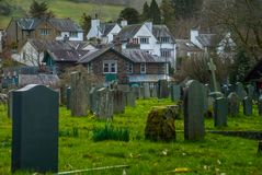 Cemetery in the Lake District area. UK royalty free stock photo